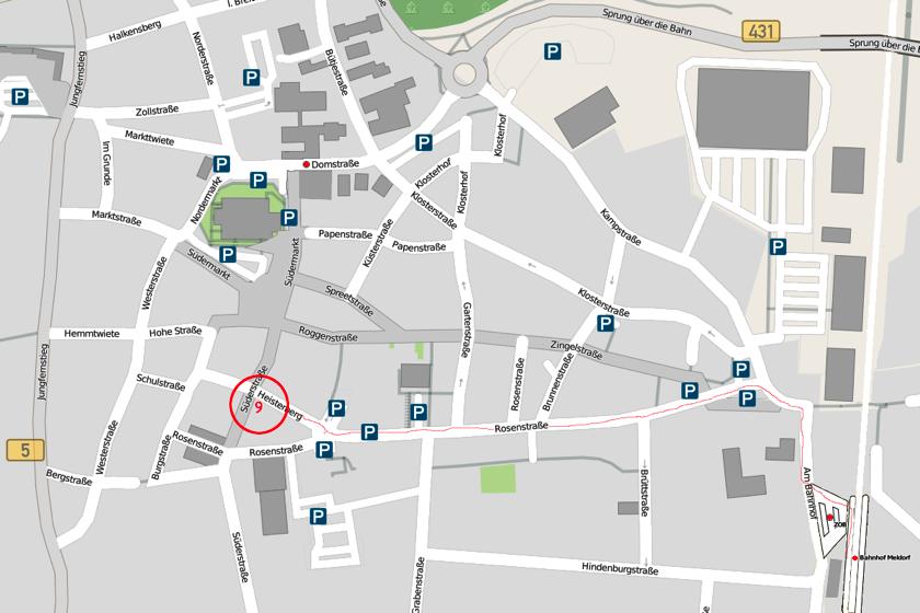 Lageplan Meldorf