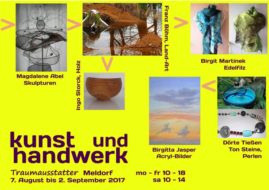 Plakat kunst + handwerk 2017